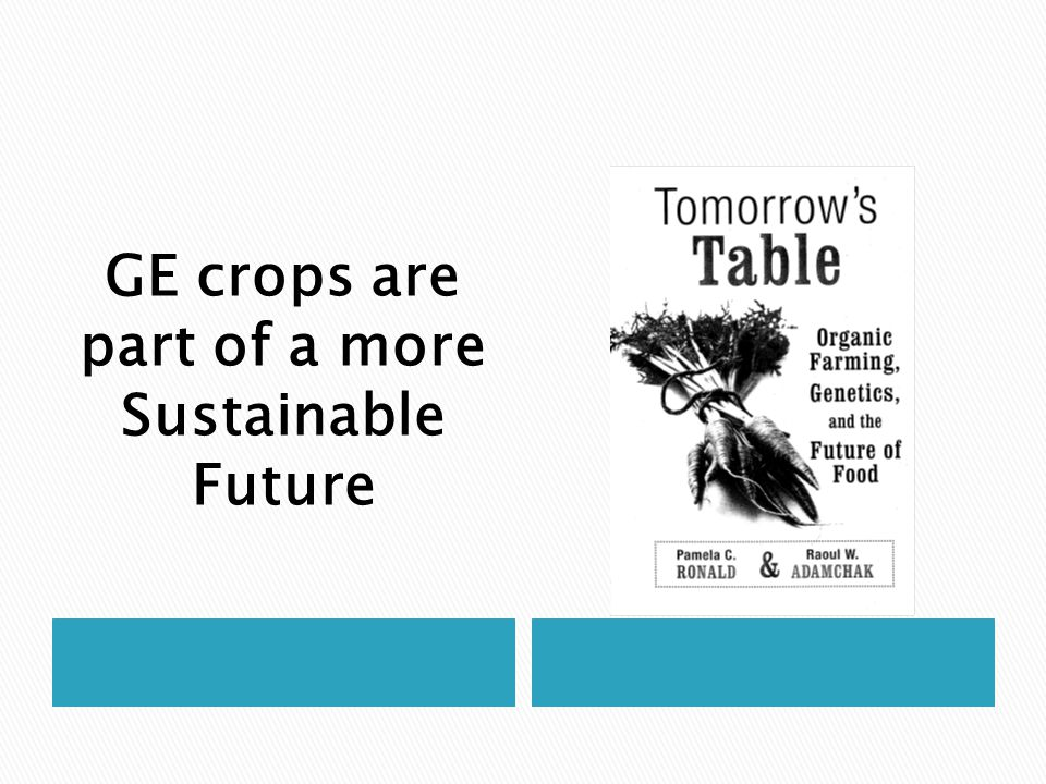 GE crops are part of a more Sustainable Future