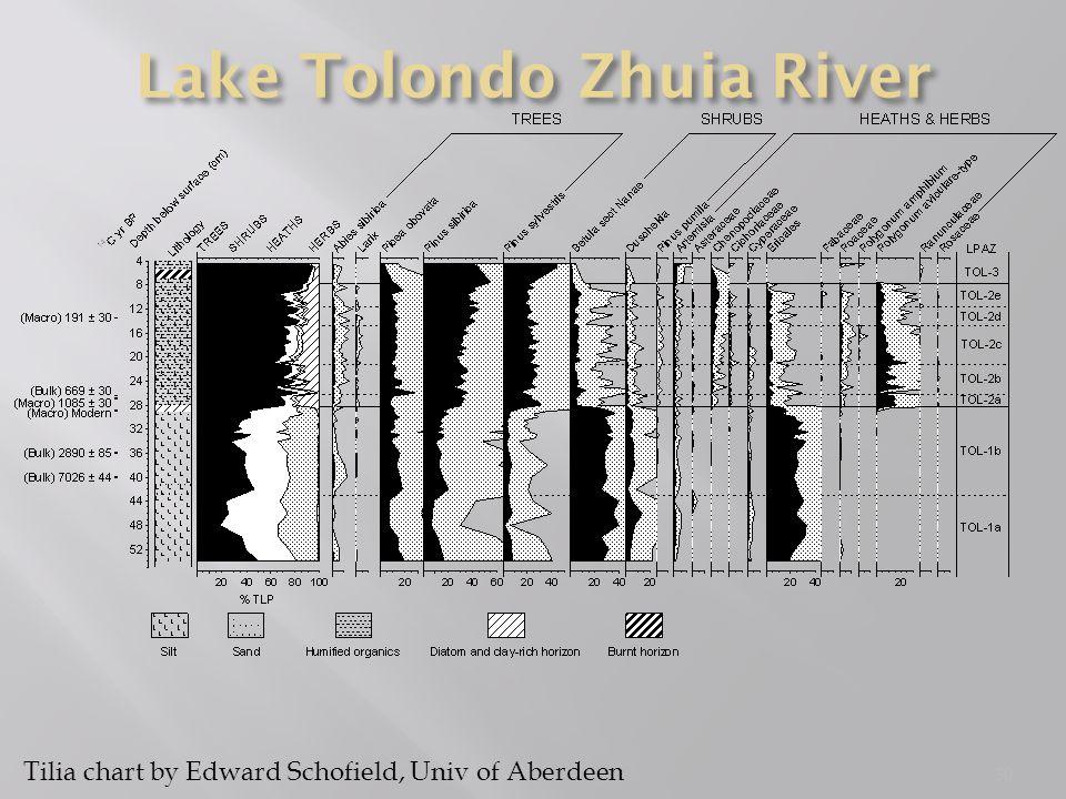 30 Tilia chart by Edward Schofield, Univ of Aberdeen