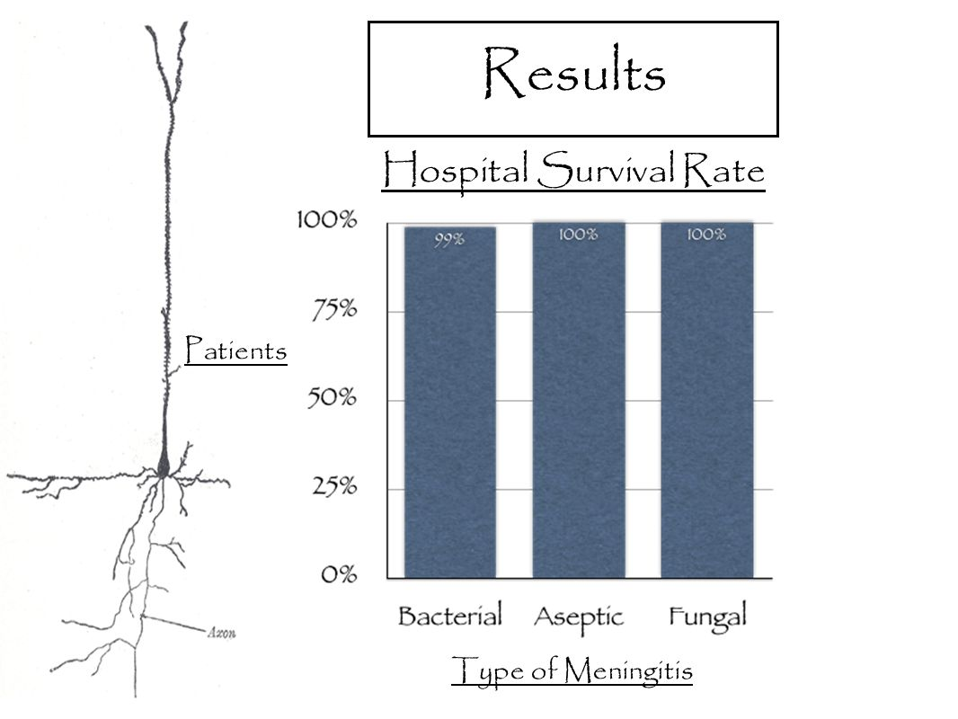 Results Hospital Survival Rate Patients Type of Meningitis