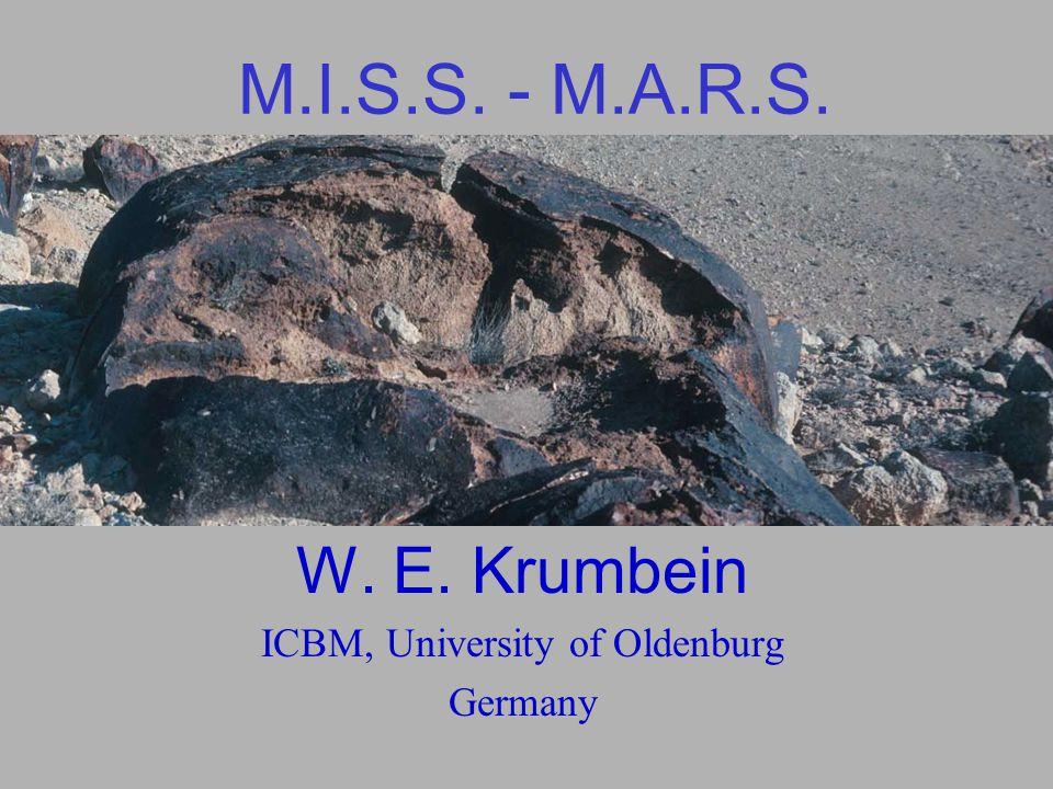 M.I.S.S. - M.A.R.S. W. E. Krumbein ICBM, University of Oldenburg Germany