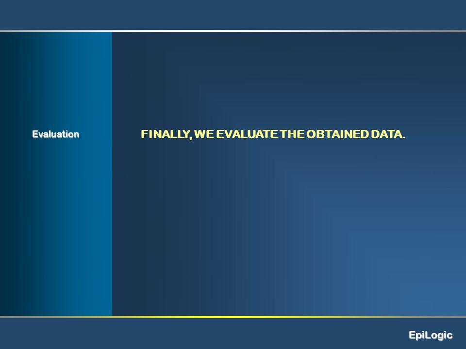 EpiLogic Evaluation FINALLY, WE EVALUATE THE OBTAINED DATA.