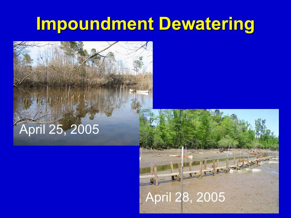 April 25, 2005 Impoundment Dewatering April 28, 2005