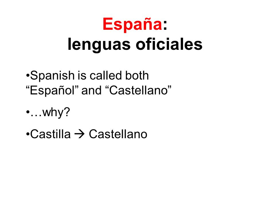 "Spanish is called both ""Español"" and ""Castellano"" …why? Castilla  Castellano"