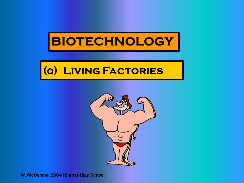 W. McConnell 2004 Kinross High School BIOTECHNOLOGY ( a ) Living Factories