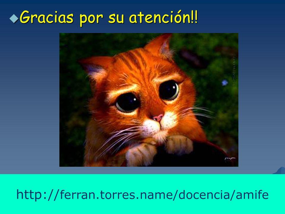 Ferran.Torres@uab.es 21 21 http:// ferran.torres.name/docencia/amife  Gracias por su atención!!