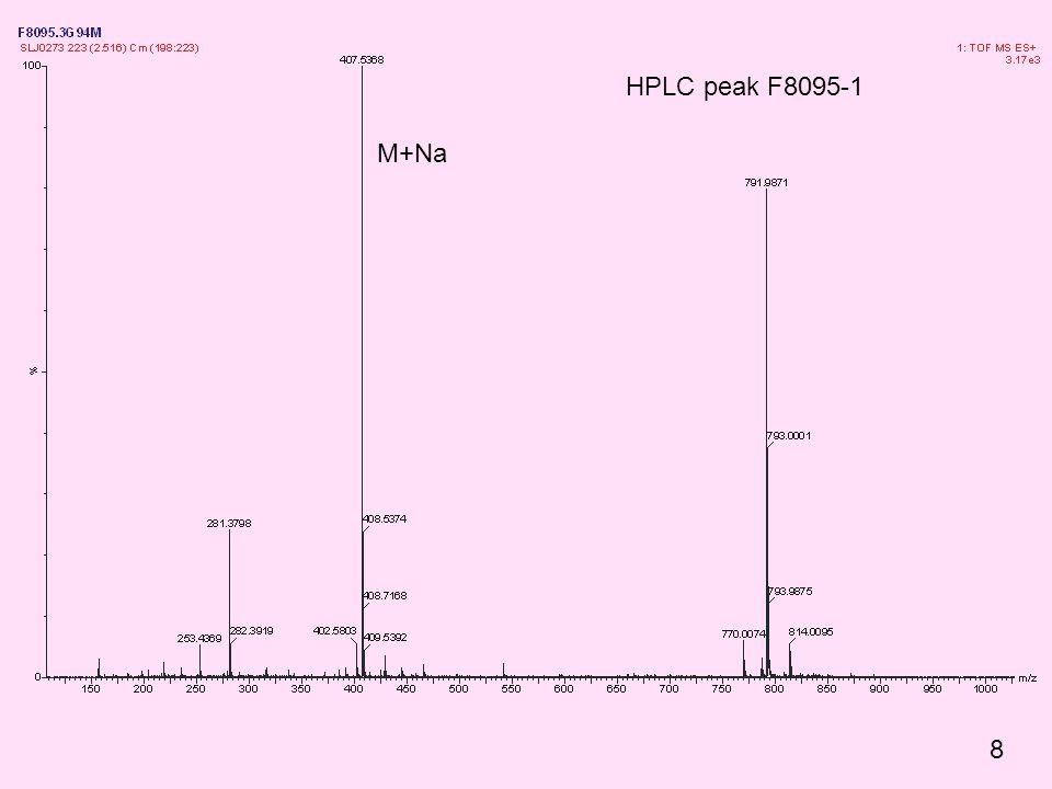M+Na HPLC peak F8095-1 8