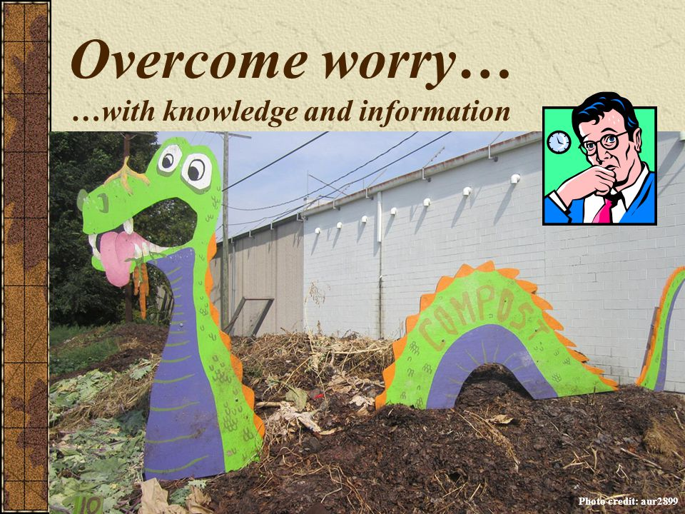 Overcome worry… …with knowledge and information Photo credit: aur2899