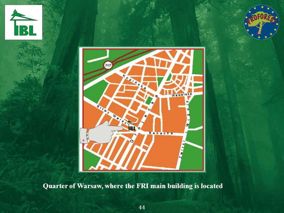 Quarter of Warsaw, where the FRI main building is located 44