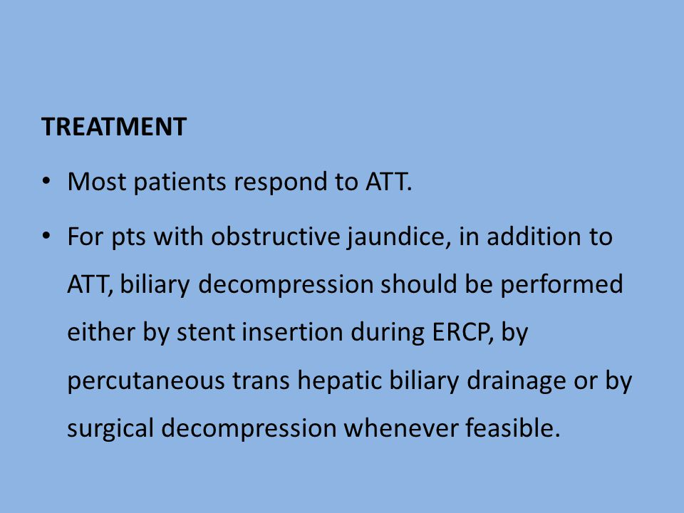 TREATMENT Most patients respond to ATT.
