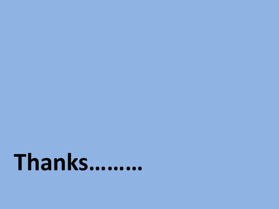 Thanks………