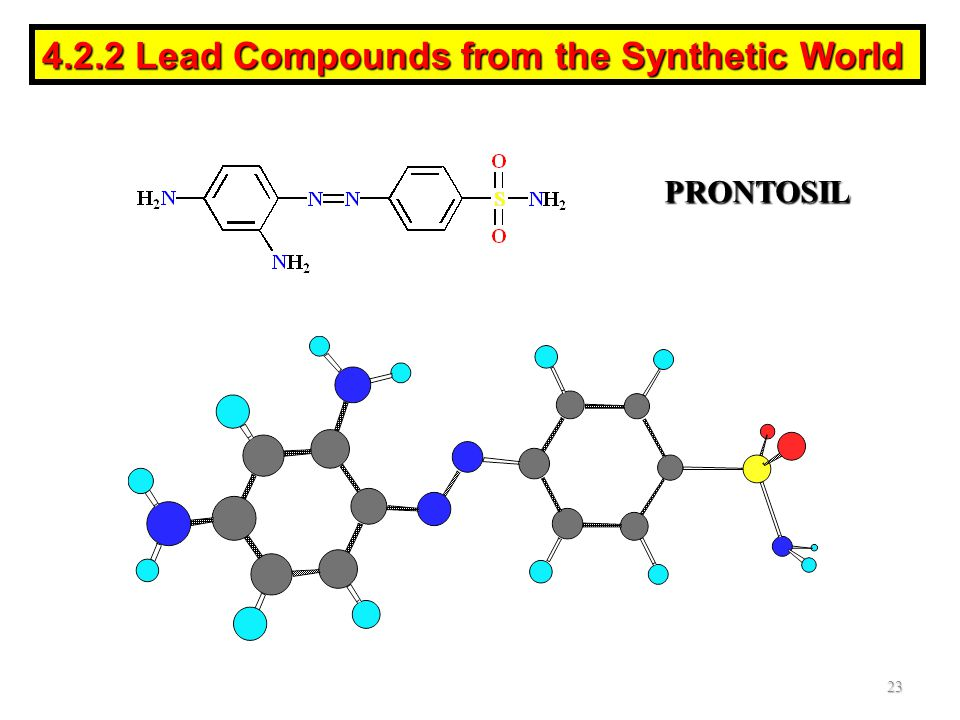 PRONTOSIL 23 4.2.2 Lead Compounds from the Synthetic World