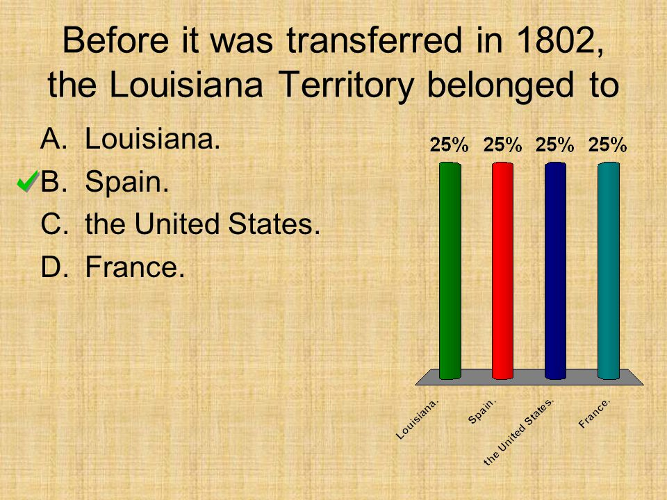 Before it was transferred in 1802, the Louisiana Territory belonged to A.Louisiana.