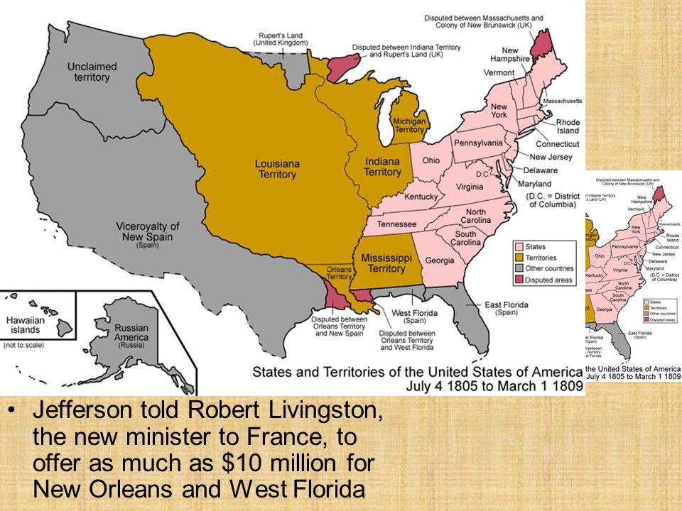 A.A B.B C.C D.D Section 2Section 2 Why did French control of the Louisiana Territory worry Jefferson.