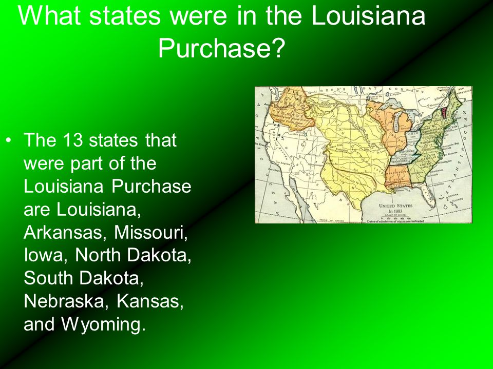 What states were in the Louisiana Purchase.