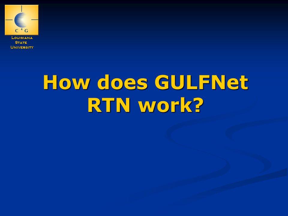 LouisianaStateUniversity How does GULFNet RTN work?