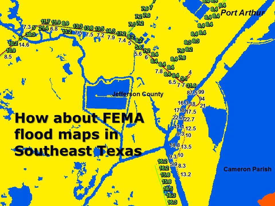 LouisianaStateUniversity How about FEMA flood maps in Southeast Texas