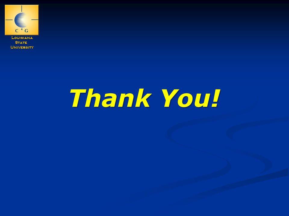 LouisianaStateUniversity Thank You!