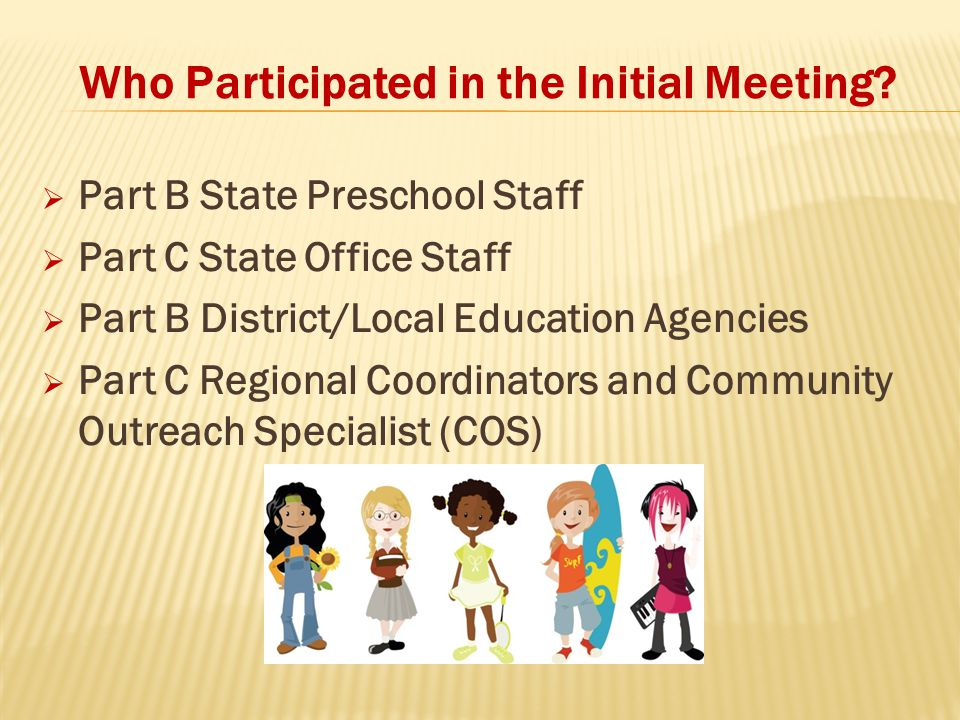 Who Participated in the Initial Meeting.