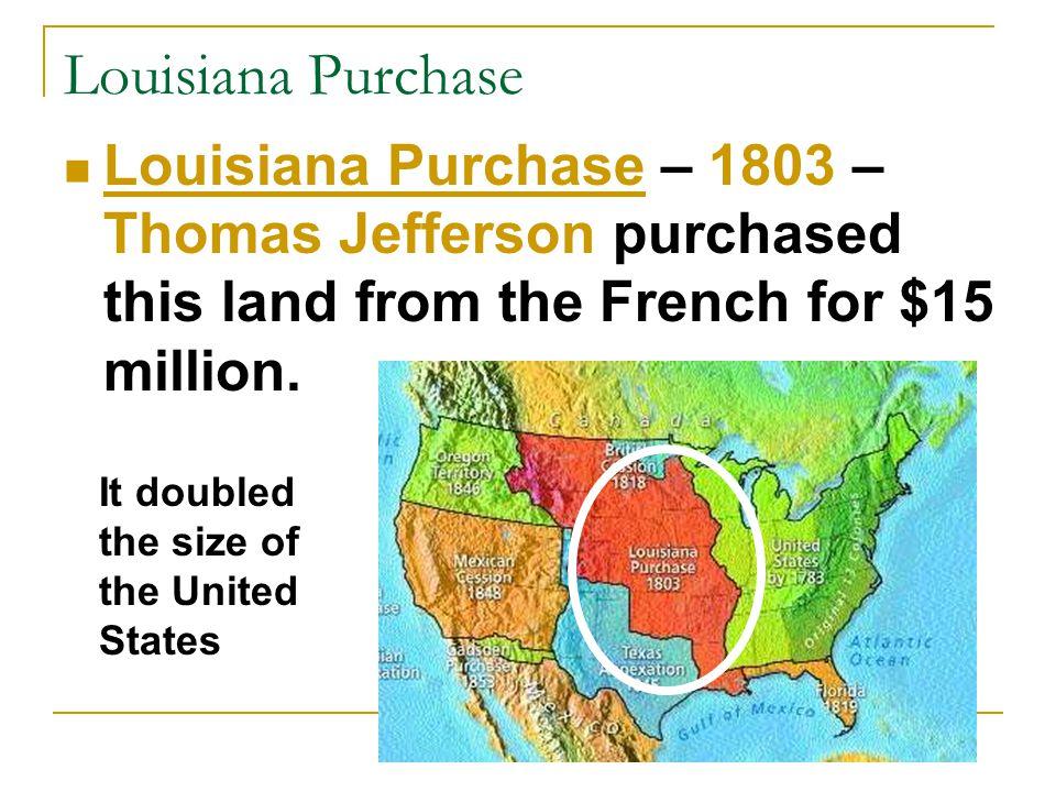 Florida Adams-Onis Treaty – 1819 – Spain gave Florida to the United States.