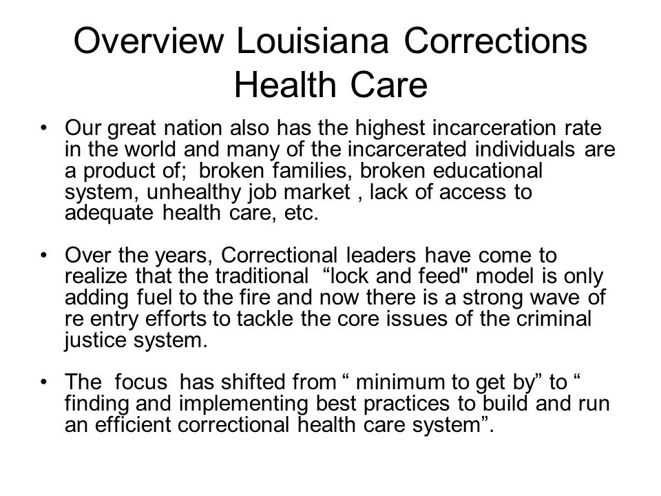 Our great nation also has the highest incarceration rate in the world and many of the incarcerated individuals are a product of; broken families, brok