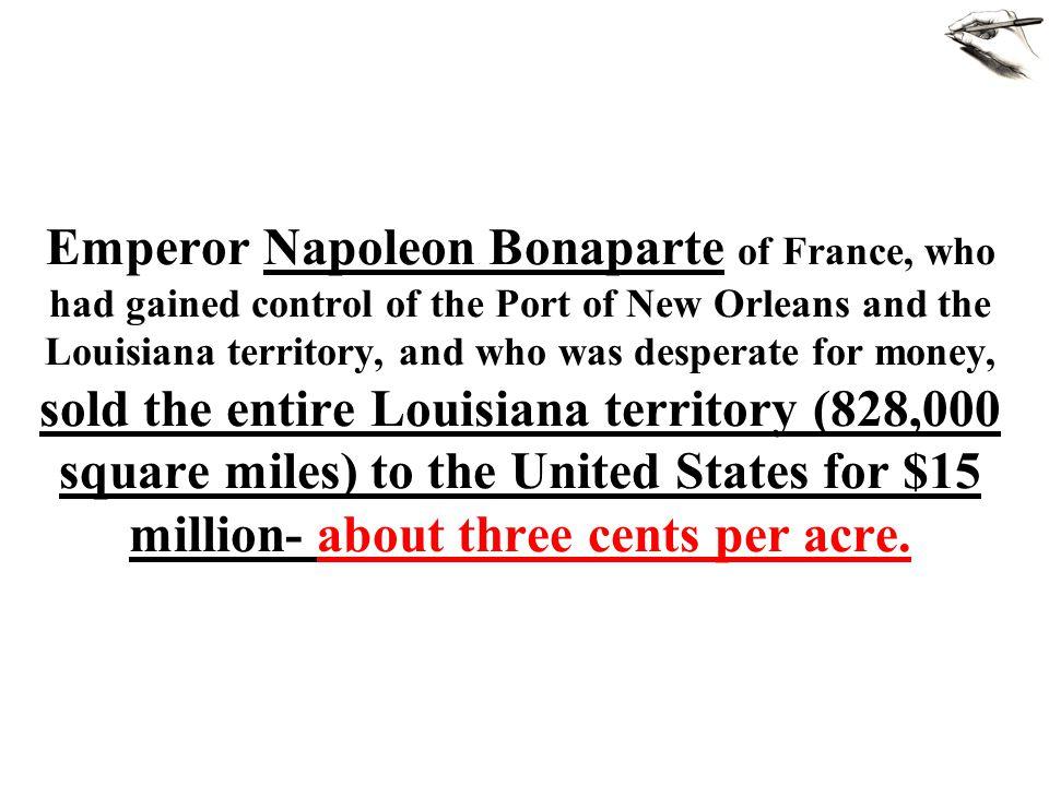 Louisiana Purchase doubles size of United States