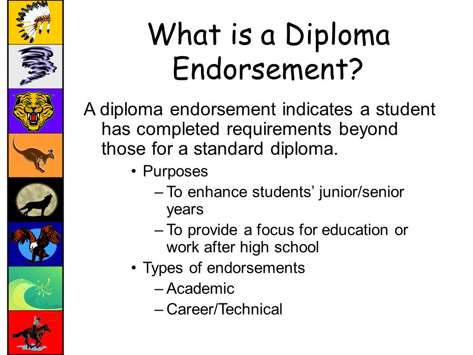 What is a Diploma Endorsement.