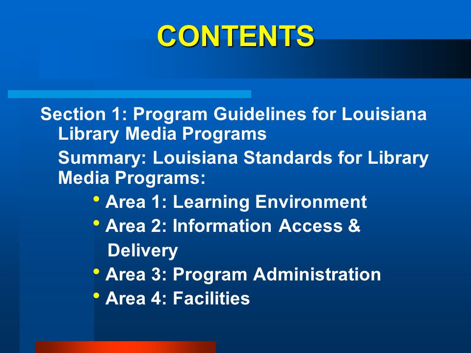AREA 3: PROGRAM ADMINISTRATION STANDARD 10: The library media center is staffed by one or more certified professional library media specialist(s) and paraprofessional(s) in accordance with state and/or regional guidelines as applicable.
