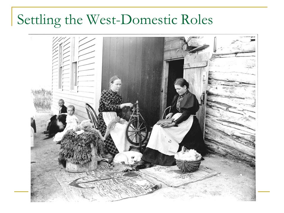 Settling the West-Domestic Roles