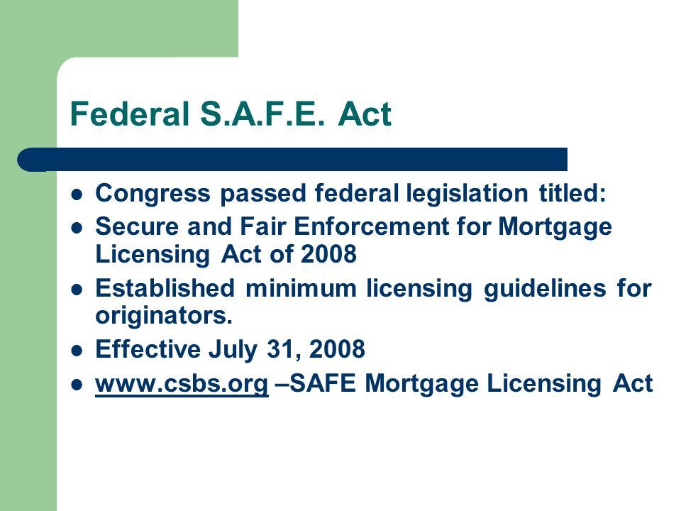Federal S.A.F.E.