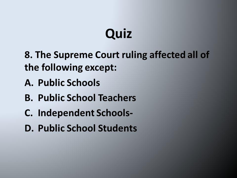 Quiz 8.