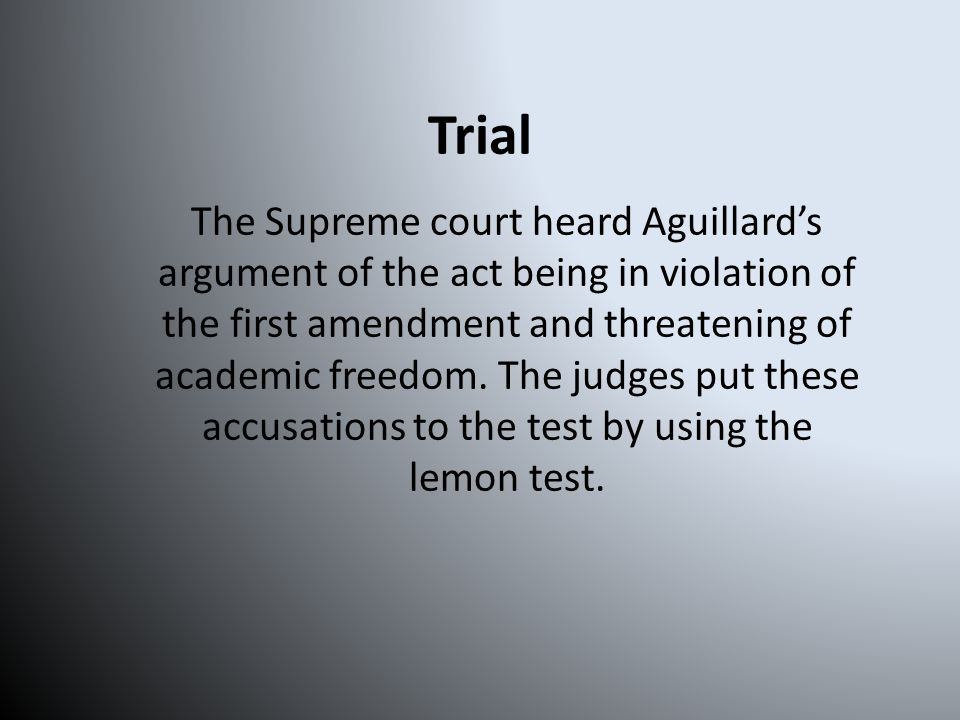Quiz 5.What was the name of the test that the Supreme Court used to judge this case.