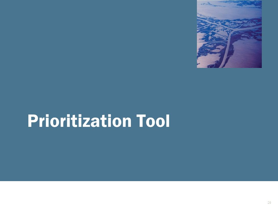 Prioritization Tool 29