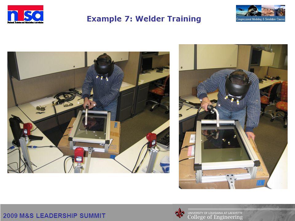 2009 M&S LEADERSHIP SUMMIT Example 7: Welder Training