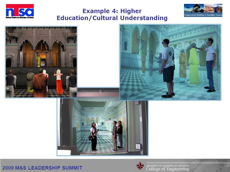 2009 M&S LEADERSHIP SUMMIT Example 4: Higher Education/Cultural Understanding