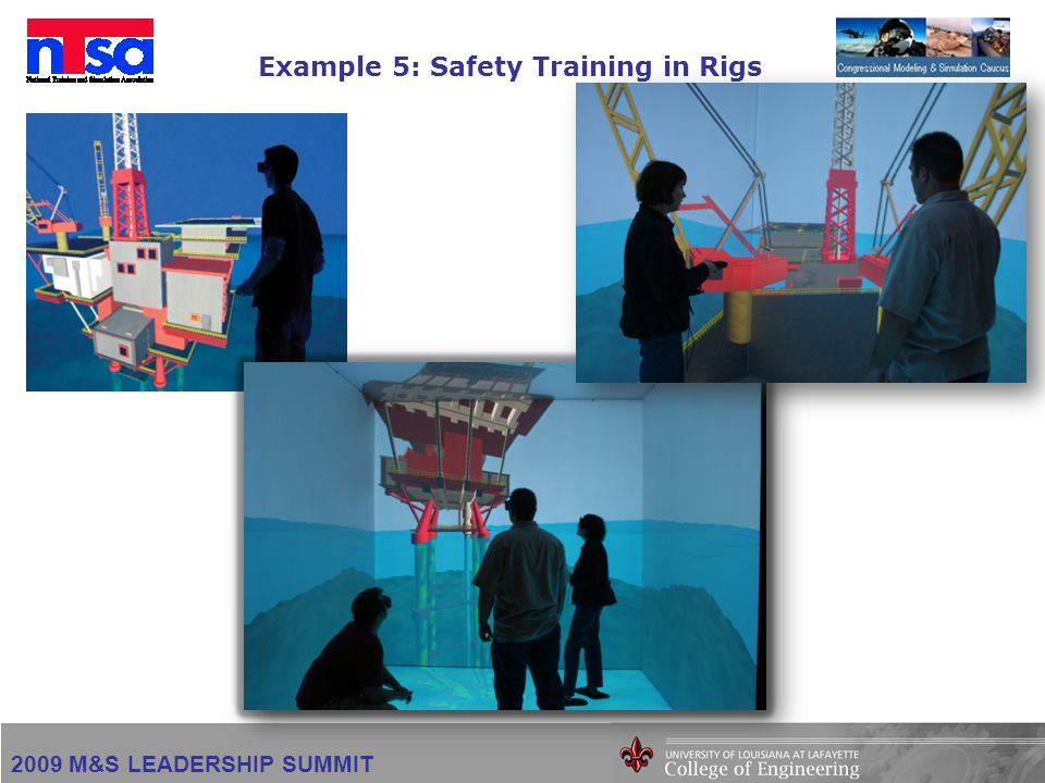 2009 M&S LEADERSHIP SUMMIT Example 5: Safety Training in Rigs