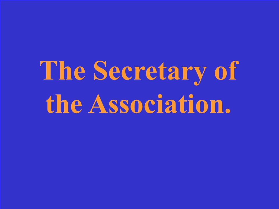 What is the Association's policy-making body