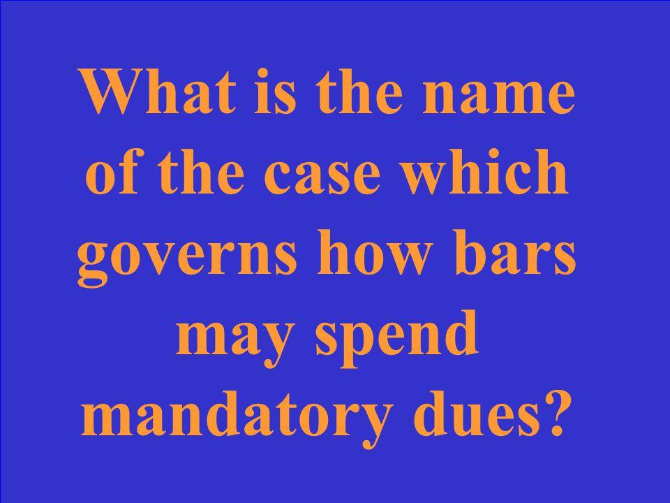 Keller v. State Bar of California