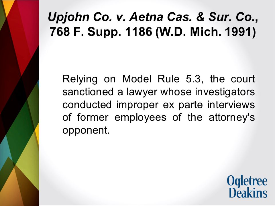 Upjohn Co. v. Aetna Cas. & Sur. Co., 768 F. Supp.
