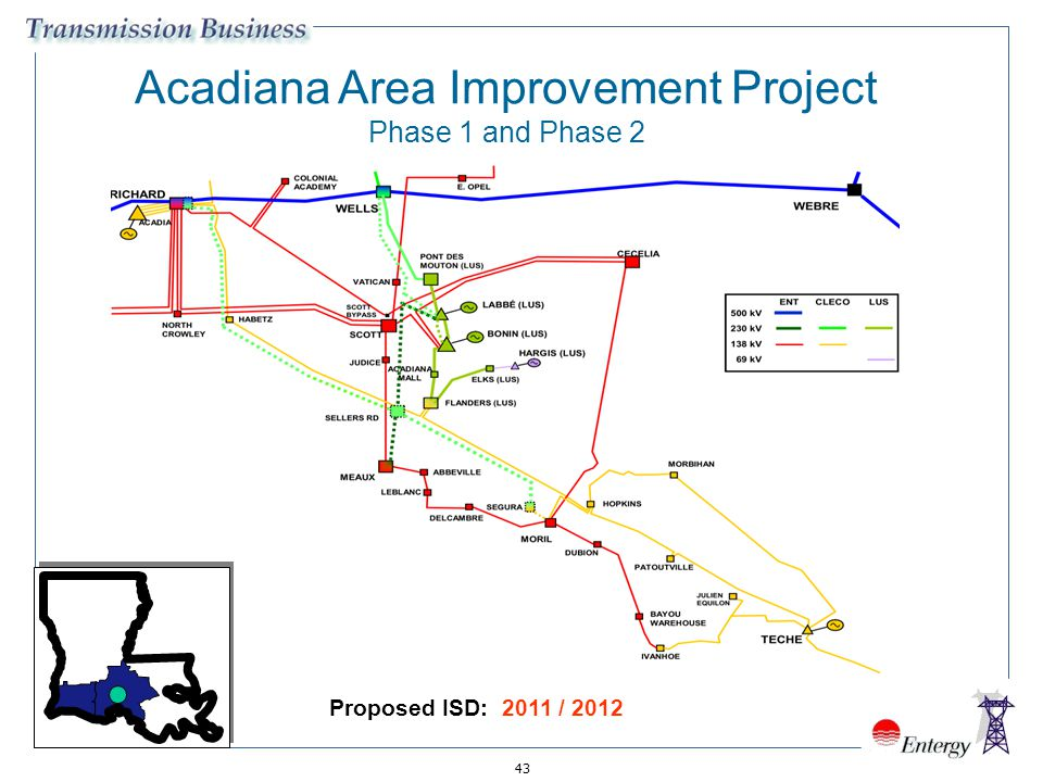 43 Acadiana Area Improvement Project Phase 1 and Phase 2 Proposed ISD: 2011 / 2012