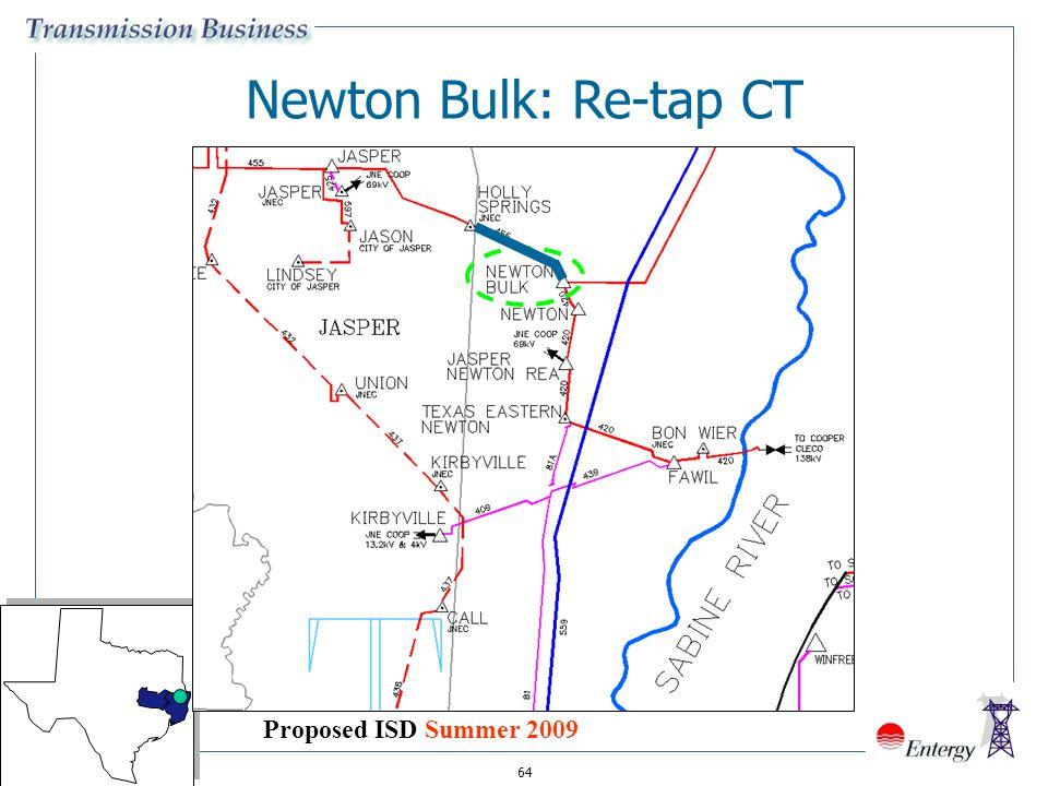 64 Newton Bulk: Re-tap CT Proposed ISD Summer 2009