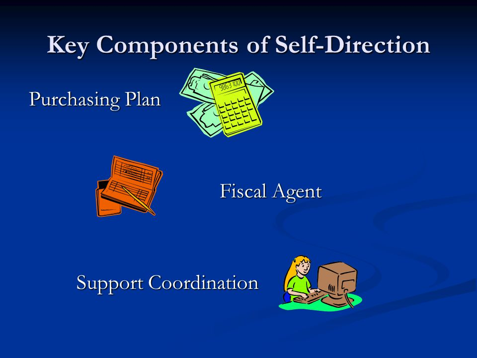 Key Components of Self-Direction Purchasing Plan Fiscal Agent Support Coordination