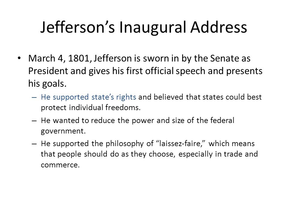 Testing the Constitution Federalists passed the Judiciary Act of 1801 right before Jefferson comes into office.