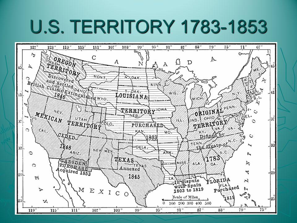 U.S. TERRITORY 1783-1853