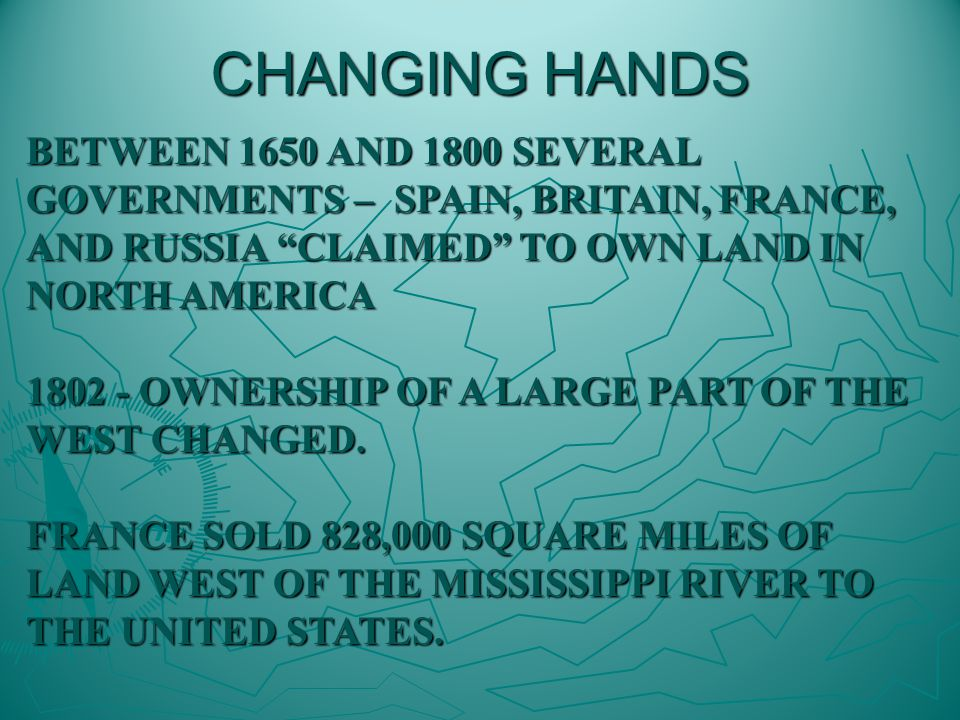Land stretched from Mississippi River to Rocky Mountains and from Gulf of Mexico to Canadian border.