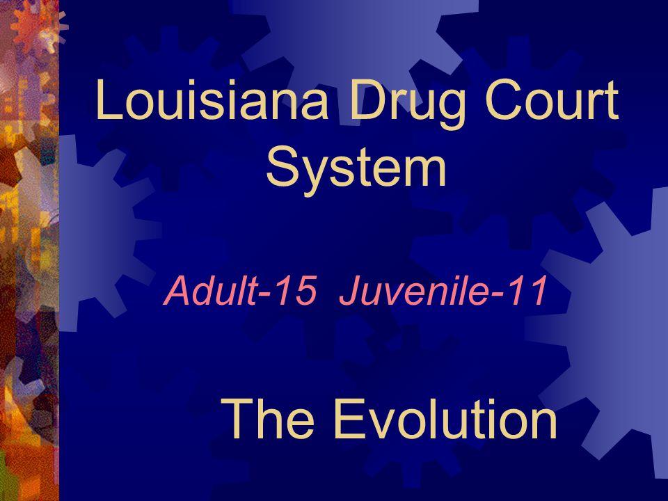 Louisiana Drug Court System Adult-15 Juvenile-11 The Evolution