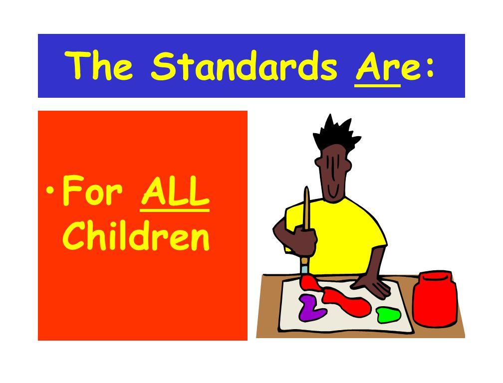 Two Kinds of Standards Program Standards Content Standards