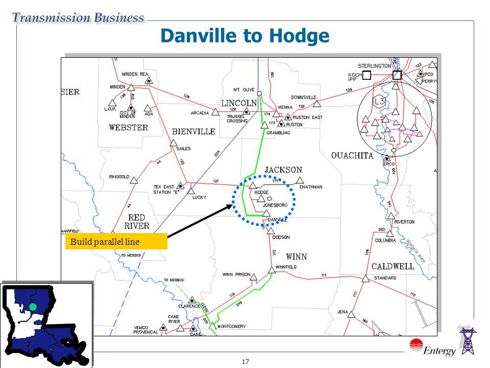 17 Build parallel line Danville to Hodge
