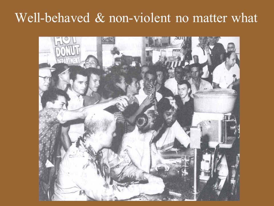 Well-behaved & non-violent no matter what