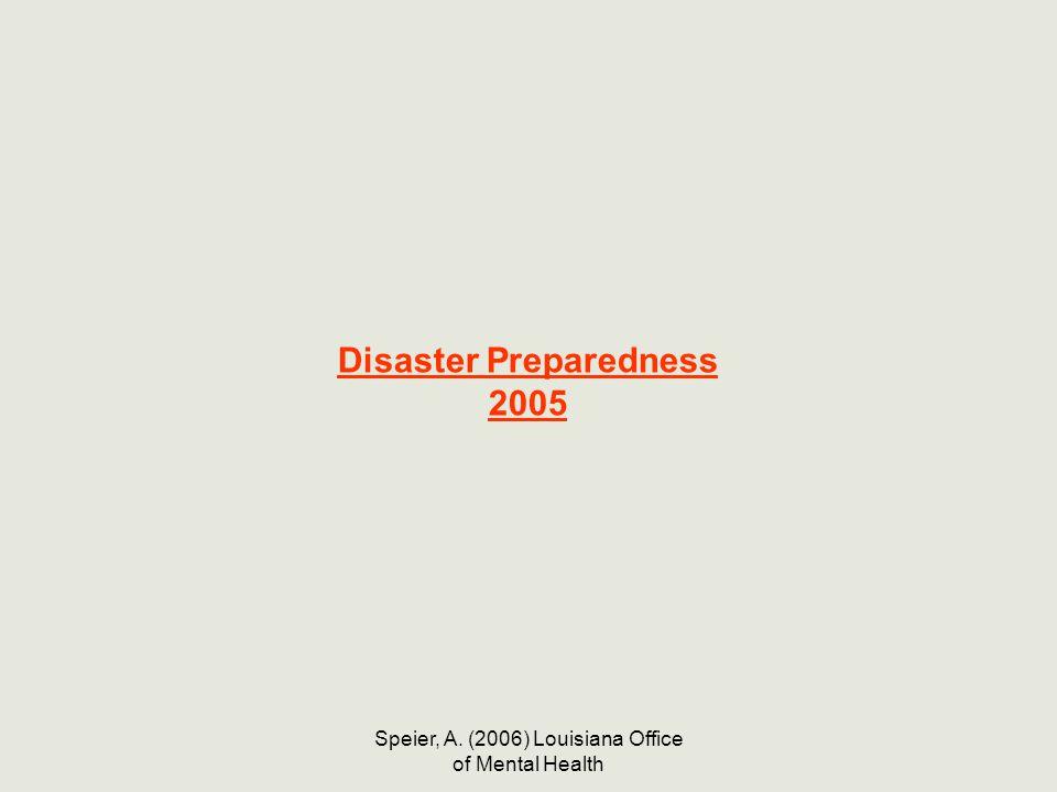 Disaster Preparedness 2005
