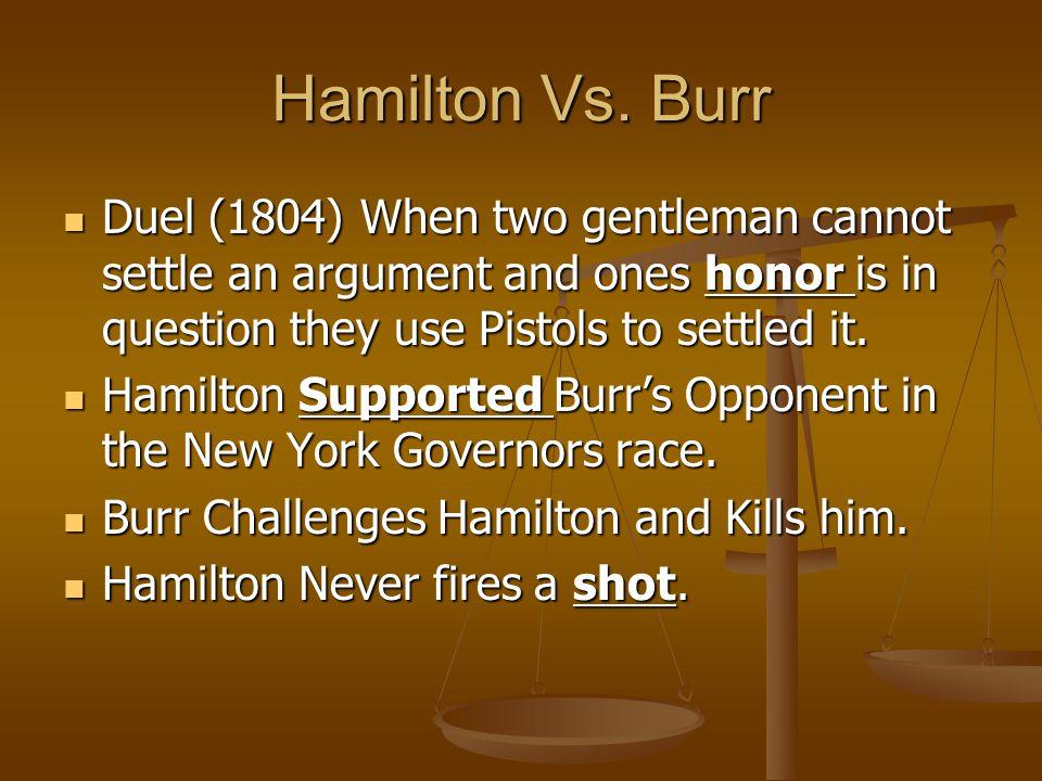 Hamilton Vs.